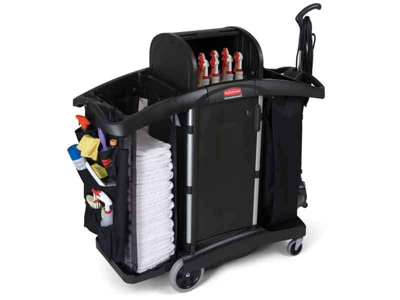 High security cart with locking hood from Rubbermaid