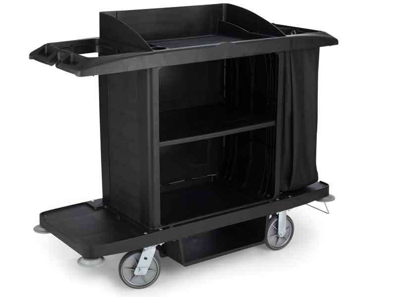 Housekeeping carts by Rubbermaid for larger hotels