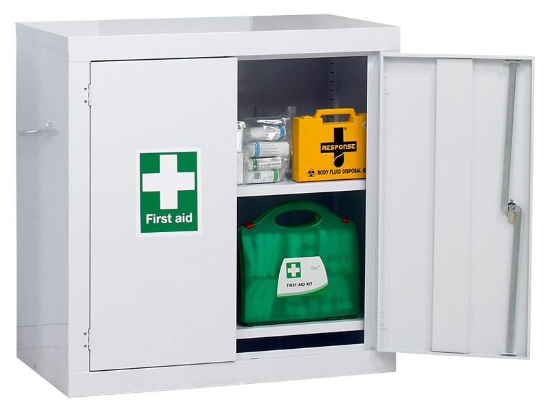 Industrial First Aid Floor Cabinet (915x915x457mm)