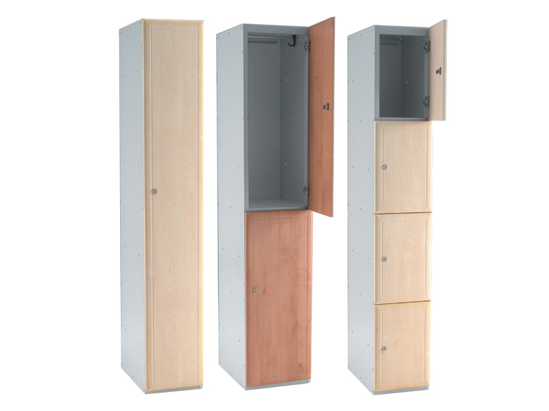 Buy 2 door laminate lockers free delivery for Wood lockers with doors