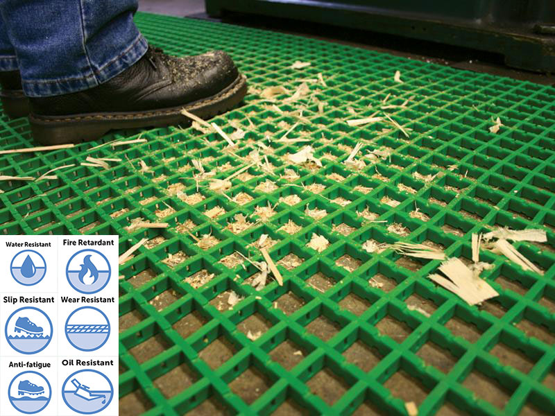 Light Duty Oil Resistant PVC Mat