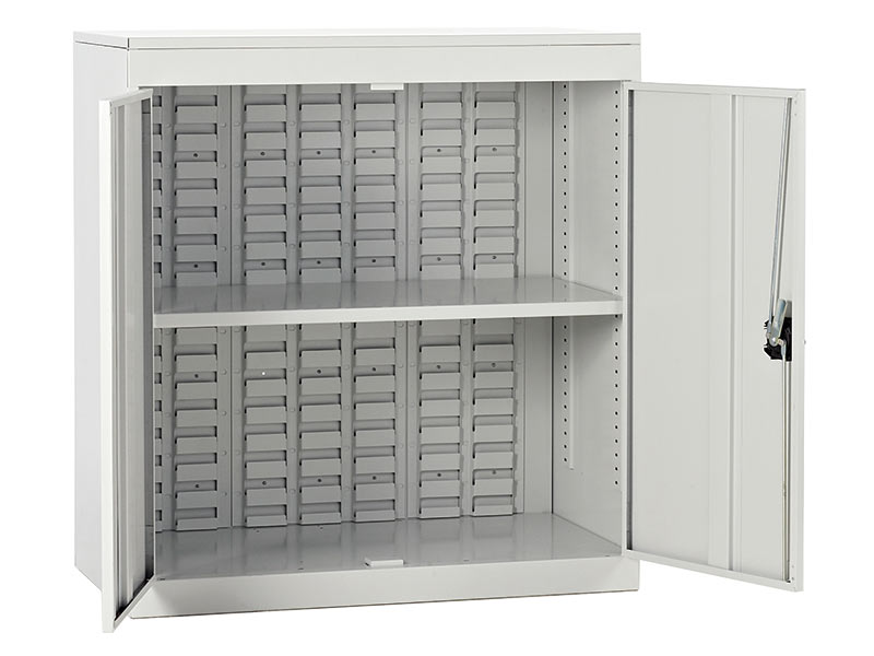 Half Height Louvred Panel Cupboards without Bins