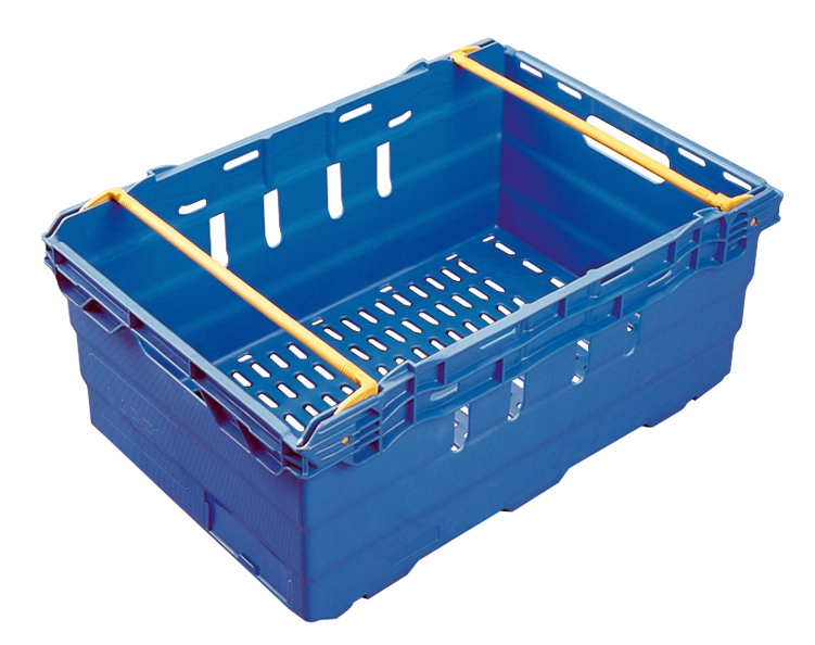 MaxiNest 44L Storage Container (Blue with Yellow Bar)