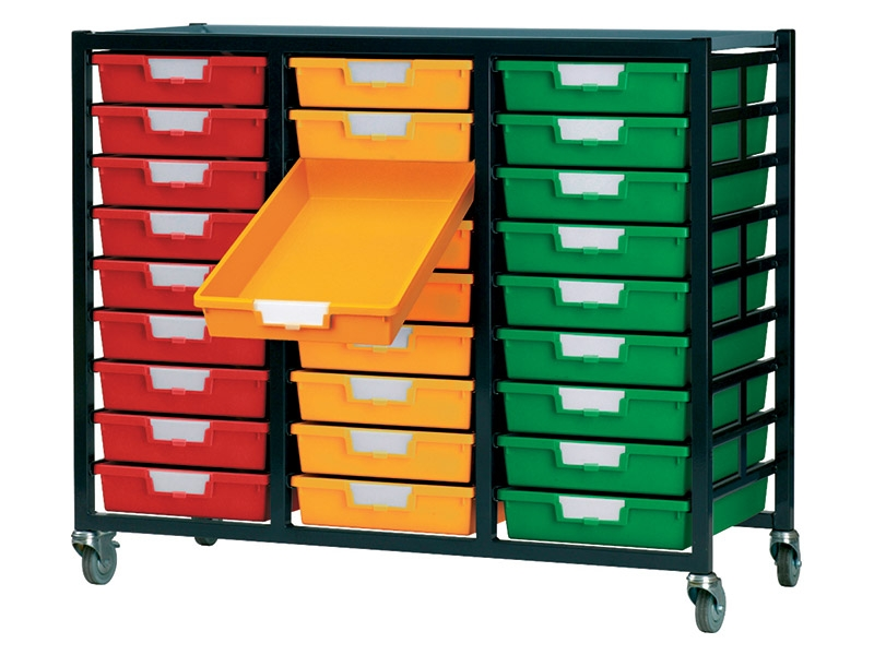 Metal Rack with 27 Plastic Drawers