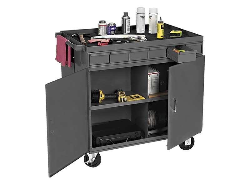 Lockable Bin Cabinet Cart