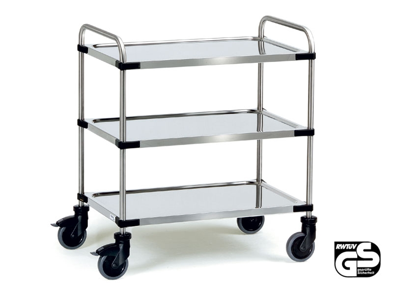 Modular Stainless Steel 3 Shelf Office Trolley