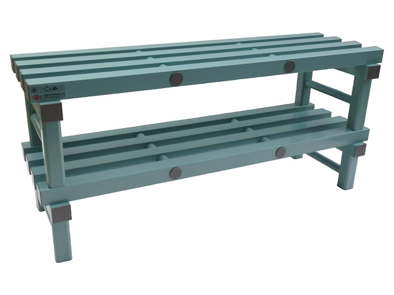 Plastic Bench with Shelf