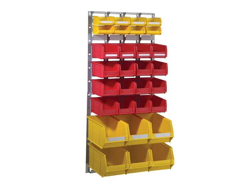 Wall Mounted Plastic Bin Kit