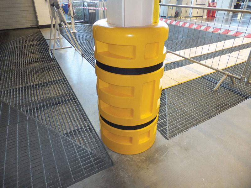 Plastic Column Guard on Home Depot Corner Protectors