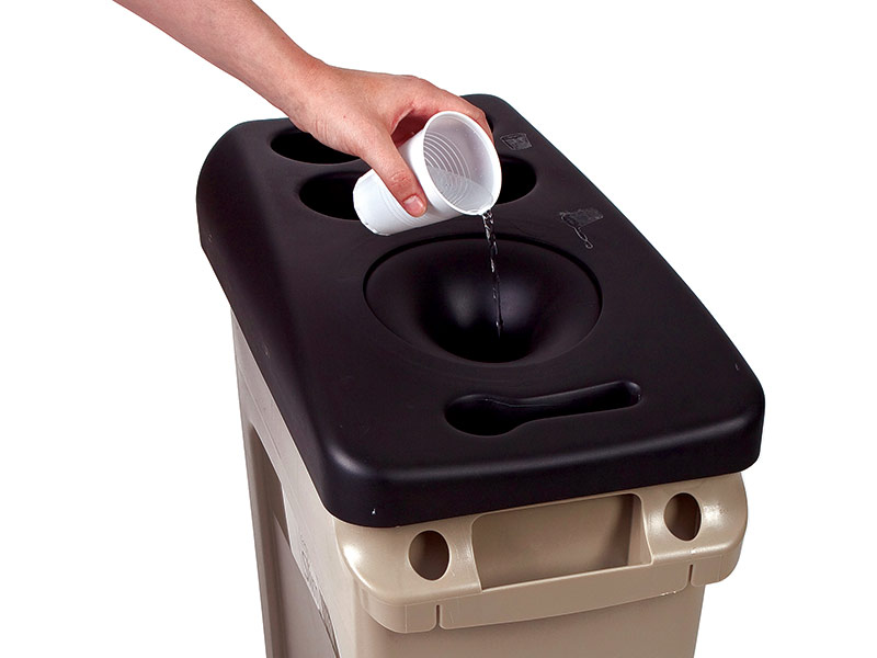 Rubbermaid Plastic Cup Recycle Bin