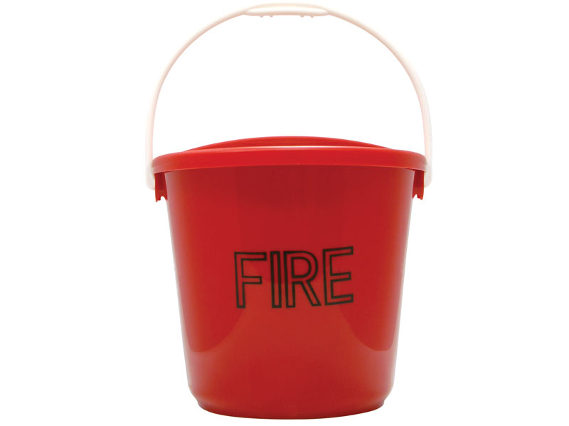 Plastic D shape Fire Bucket