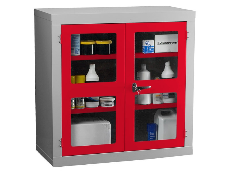 Polycarbonate Door Floor Standing Cabinet with 1 Shelf
