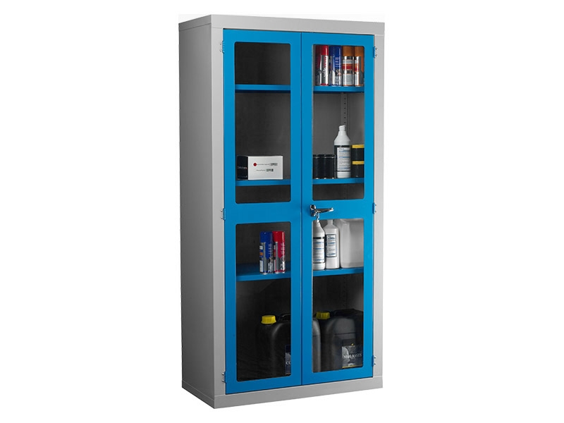 Polycarbonate Door Floor Standing Cabinet with 3 Shelves