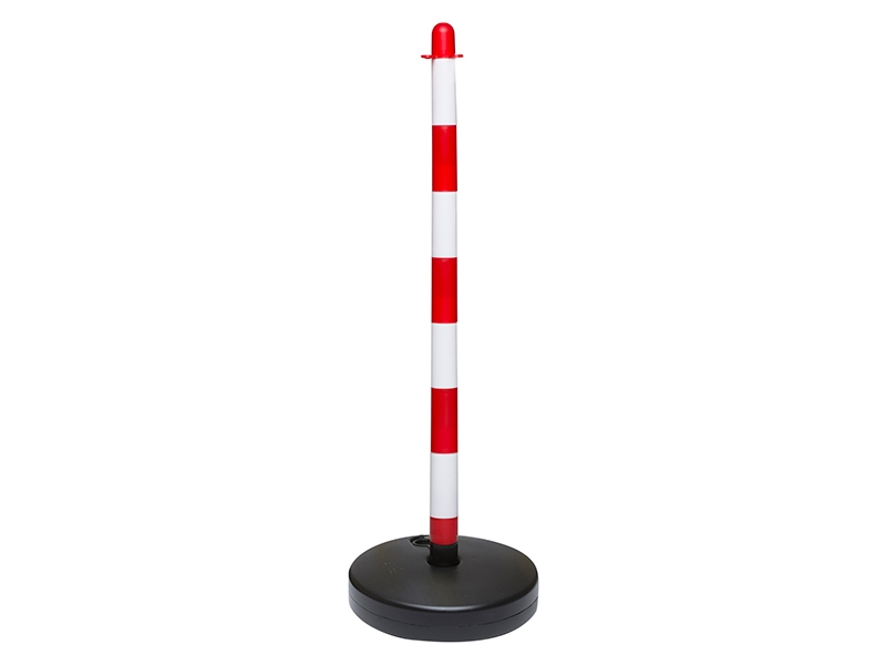 Red and White Water Base Plastic Chain Post