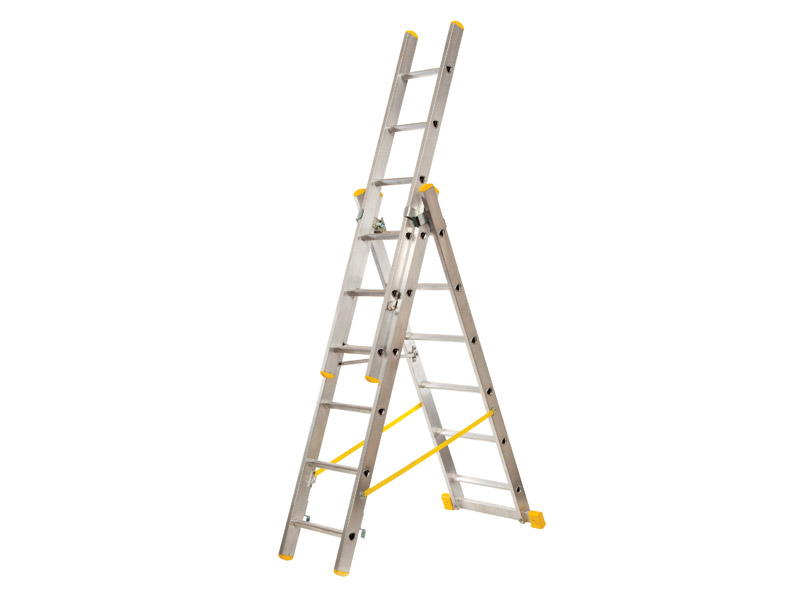 Reform ladder and combination double sided stepladder