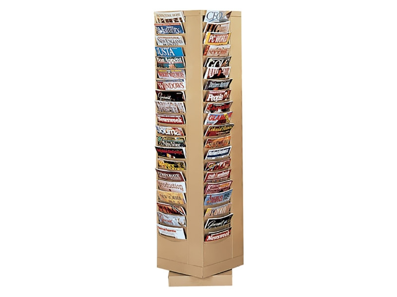 Rotary Literature Rack 80 Pockets