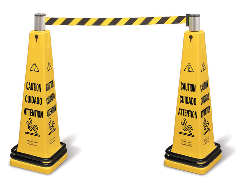 Cone and belt barriers - Accessories Available