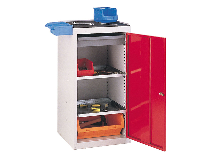 Single Door Workshop Cupboard with 1 Drawer and 2 Shelves
