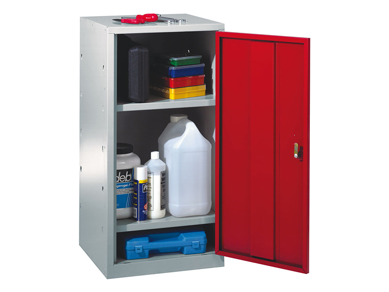 Single Door Workshop Cupboard with 2 Shelves