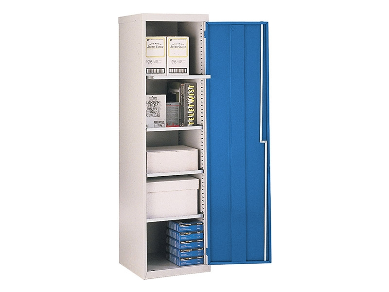 Single Door Workshop Cupboard with 4 Shelves