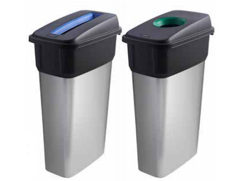 Slim recycling bins