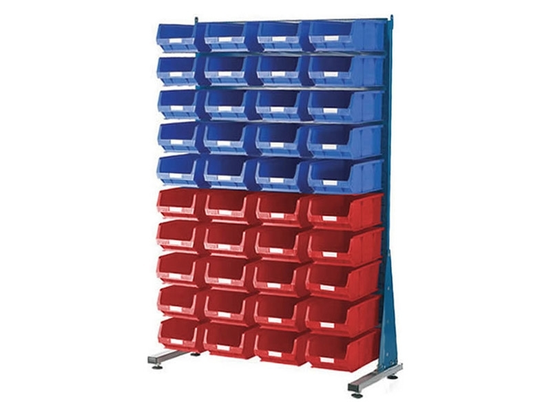 Spacemaster Single Sided Rack with 40 x Size 4 Bins