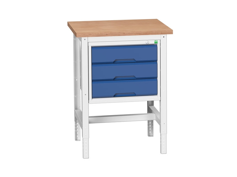 Static Storage Multiplex Workstand with 3 Drawers