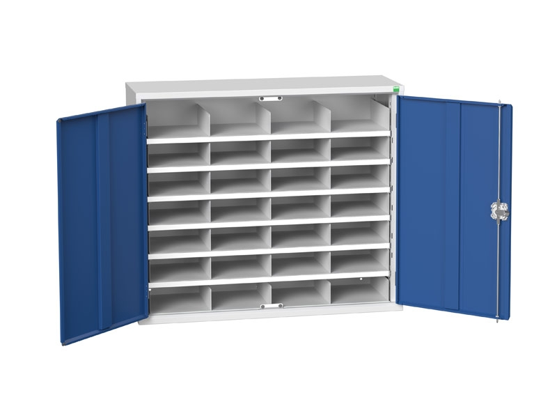 Steel Cupboard with 28 Compartments