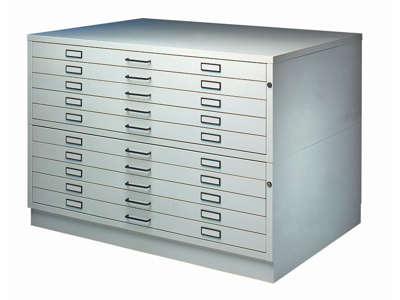 Steel plan chest architectural plans storage for Architectural plan storage