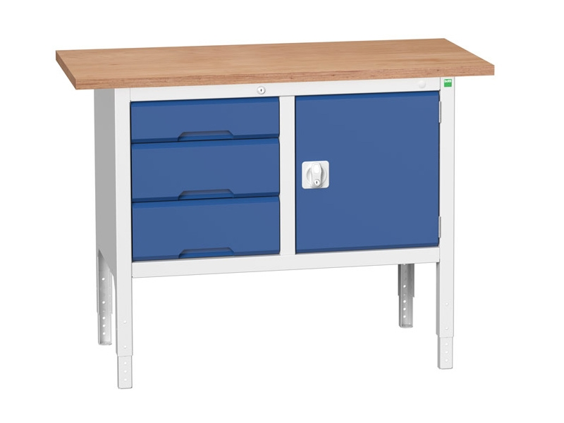 Storage Workbench, 3 Drawers, Cupboard