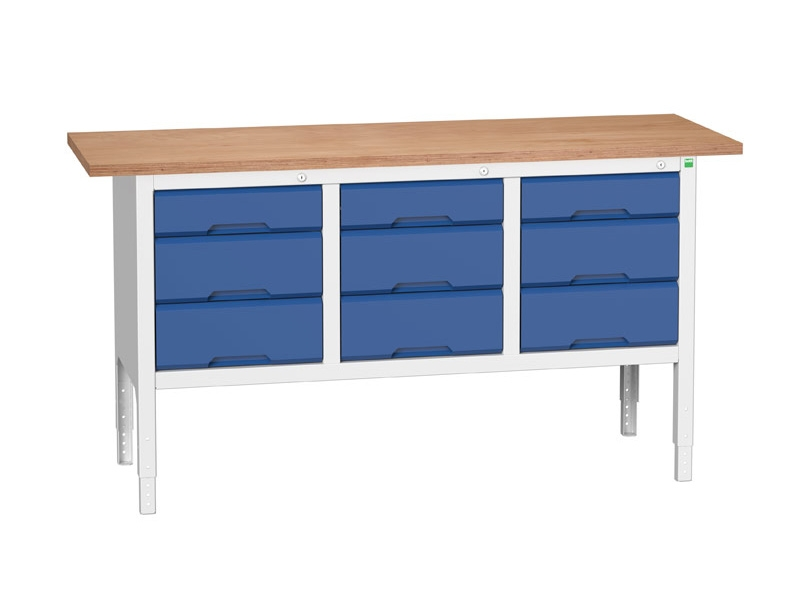 Large Workbench with Drawers