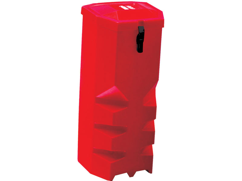 Single Polyethylene Vehicle Extinguisher Cabinet