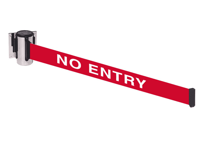 wall fixed belt barriers no entry