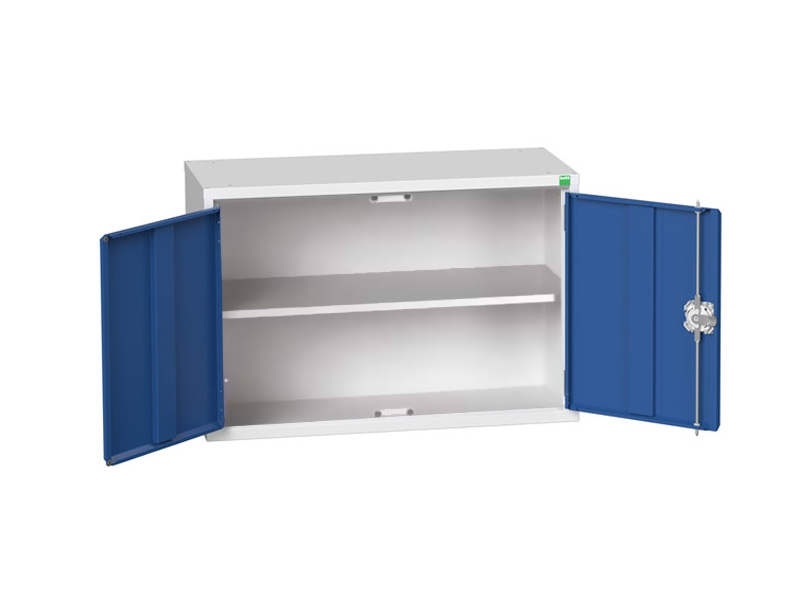 Wall Mounted Wide Workshop Tool Cabinet with 1 Shelf
