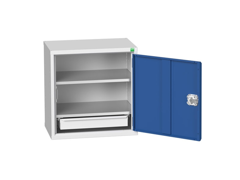 Wall Mounted Workshop Tool Cabinet with 2 Shelves, 1 Drawer