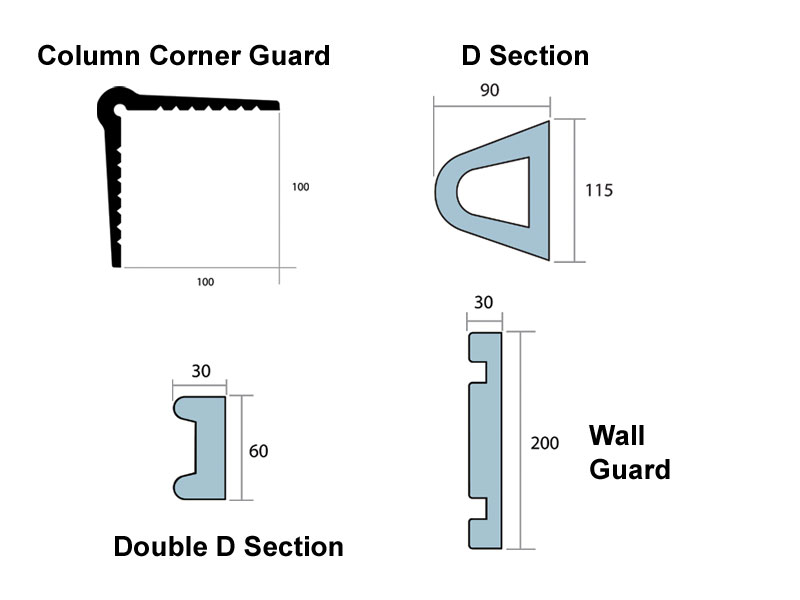 wall protection high impact steel barriers wall guards