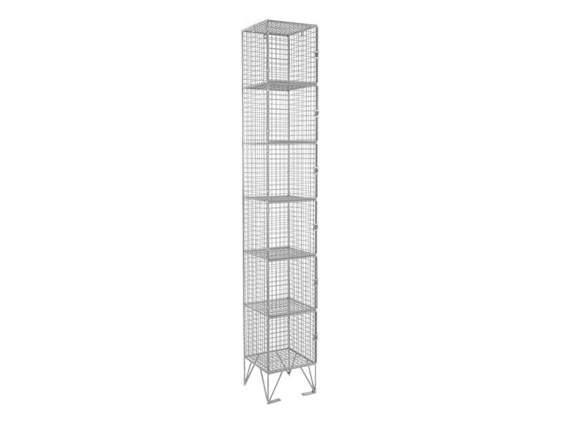 6 Door Economy Mesh Locker