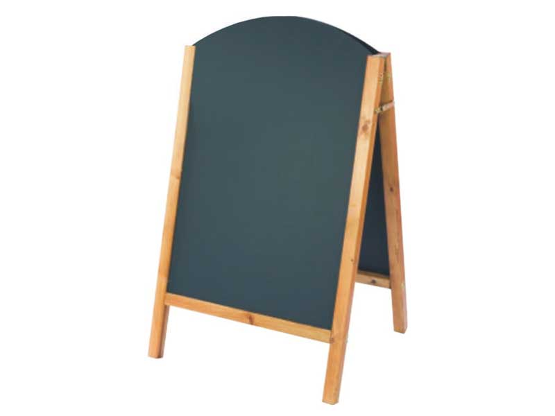Wooden Framed Chalk A Board on Dark Mahogany Wood Furniture