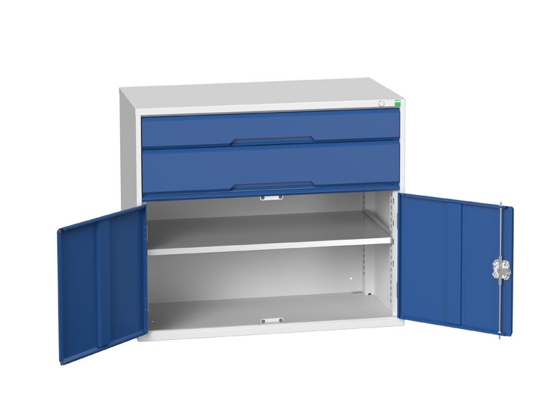 Workshop Cabinet 1050mm Wide with Cupboard, 3 Drawers