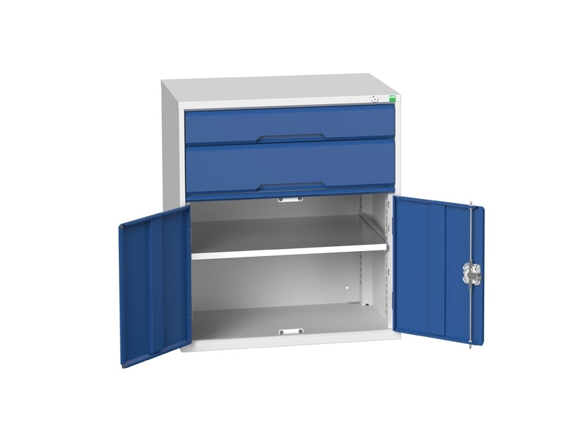 Workshop Cabinet 800mm Wide with Cupboard, 3 Drawers