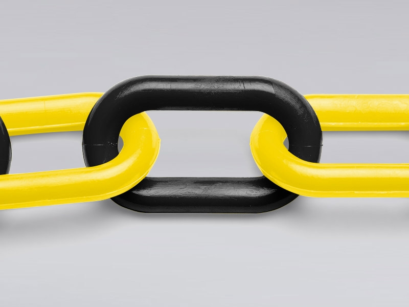 Yellow and Black Plastic Garden Chain