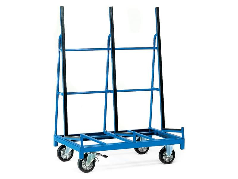 1 Sided Upright Support Sheet Material Trolley