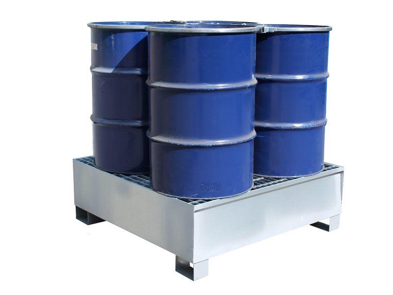 4 Drum Steel Spill Pallets