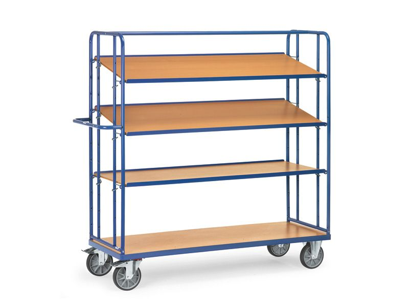 4 Solid Shelf Container Trolley