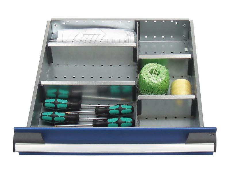 525mm Wide 6 Compartments, Metal