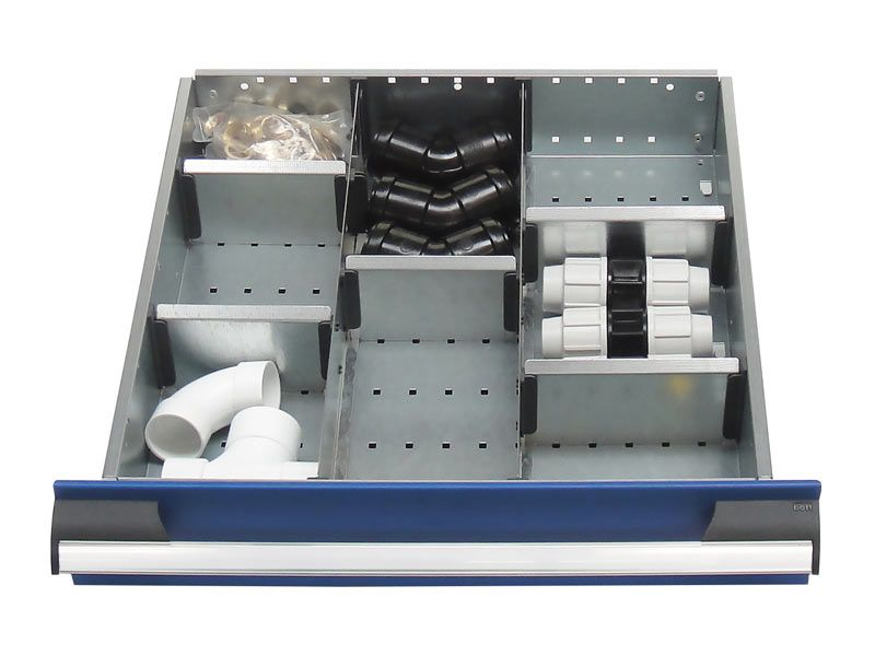 525mm Wide 8 Compartments, Metal