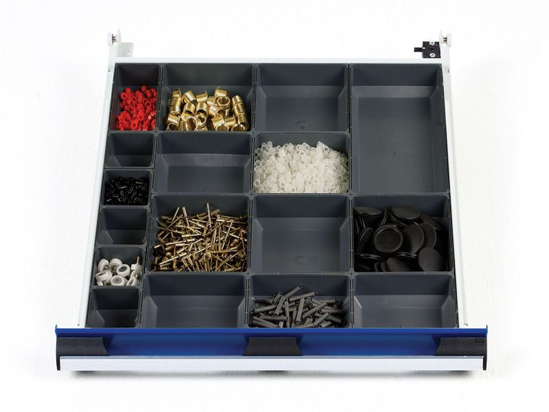 650mm Wide 17 Compartments, Plastic