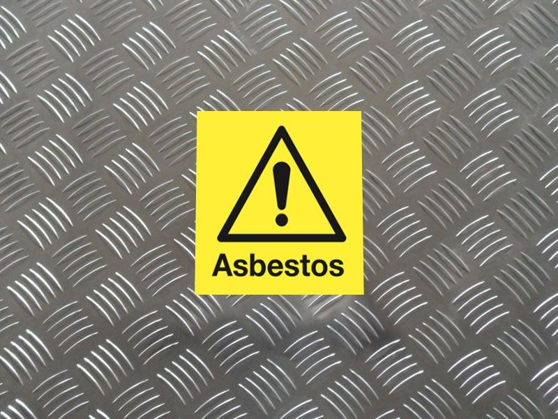 """""""Asbestos"""" Labels on a Roll"""