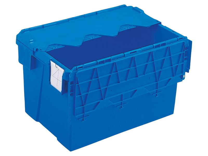 Blue Attached Lid Container