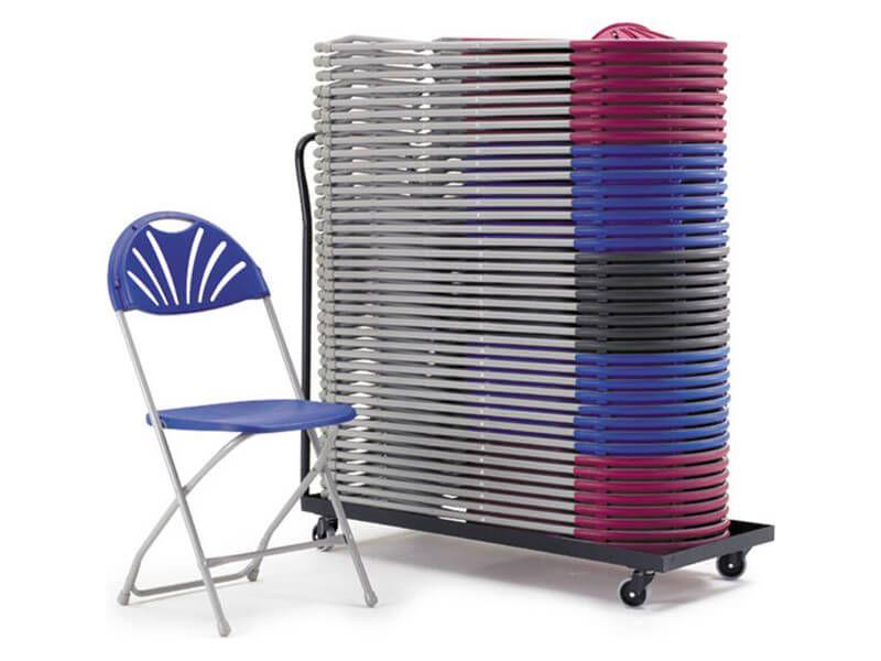 By-Fold Chair Storage Trolley